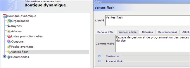 Configuration du backOffice Boutique